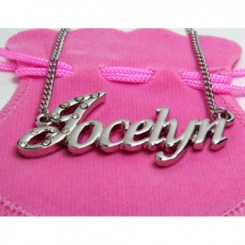 Name Necklace Jocelyn White Plated