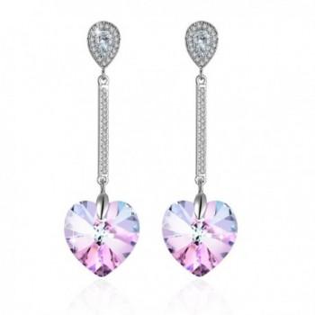 Swarovski Elements Earrings Crystals Birthstone - Purple - CO12OBRR2YY