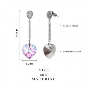 Swarovski Elements Earrings Crystals Birthstone