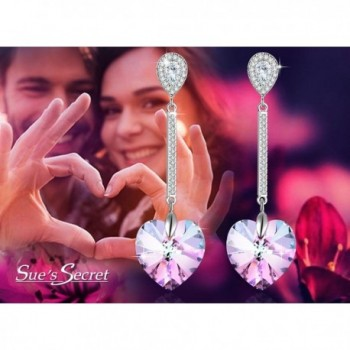 Swarovski Elements Earrings Crystals Birthstone in Women's Drop & Dangle Earrings