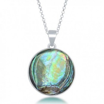 Sterling Silver Natural Abalone Pendant