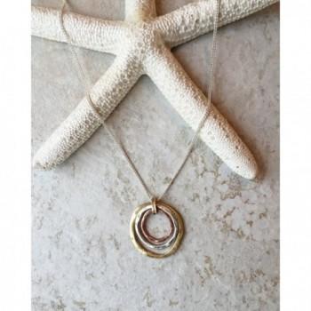 Earth Ocean Handmade Necklace Tri Tone in Women's Pendants