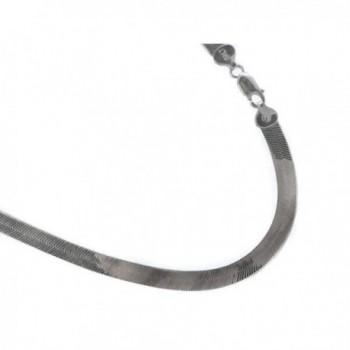 Sterling silver 6.9mm Herringbone Necklace. Italian .925 Chain. 16-18-20-22-24-30 inches - CM11T8I2BGN