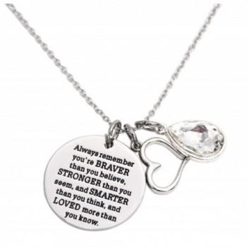 Awareness Necklace Birthstone Graduation Encouragement - April - C01856IT3LA