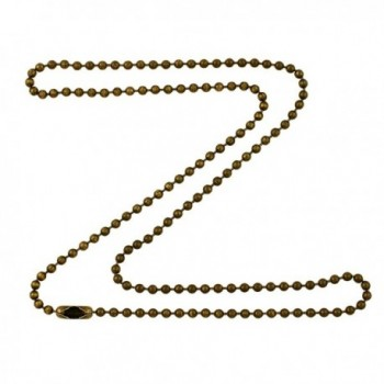 2.4mm Antique Brass Ball Chain Necklace with Extra Durable Color Protect Finish - CO12IERVUI3