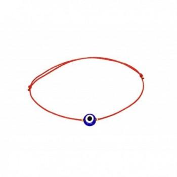 Naz Collection Red String Glass Evil Eye Bracelet - C112CAJDR9F