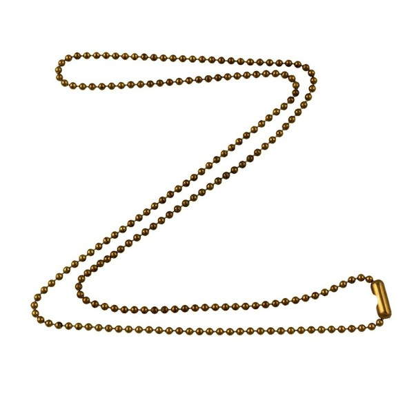 1.8mm Fine Antique Brass Ball Chain Necklace with Extra Durable Color Protect Finish - CO12DEIUO61