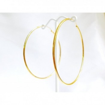 Yellow Plated Continuous Endless Earrings