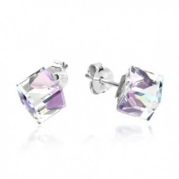 Blue Purple Fashion Crystal Sterling Earrings