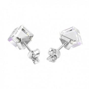 Blue Purple Fashion Crystal Sterling Earrings in Women's Stud Earrings