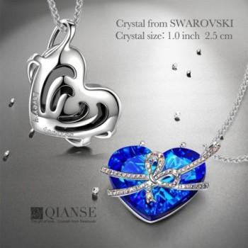 QIANSE Necklaces Girlfriend Swarovski Anniversary