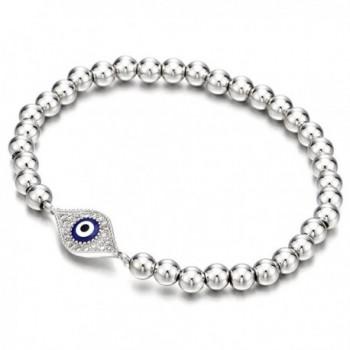 Beads Bracelet for Women Girls Men with Cubic Zirconia Protection Evil Eye - 1 - C812O919HL7
