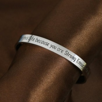 Because Strong Enough Inspirational Bracelet