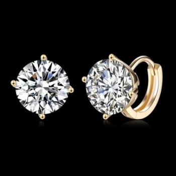 Plated Cubic Zirconia Diamond Earrings