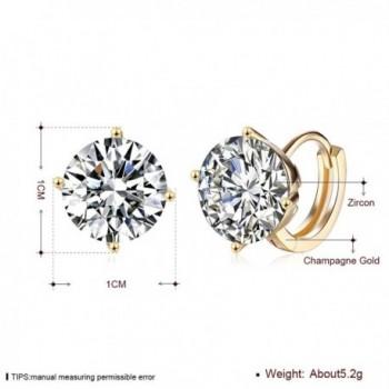 Plated Cubic Zirconia Diamond Earrings in Women's Hoop Earrings