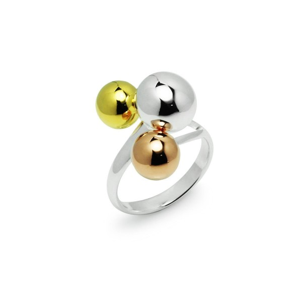 Tricolor Graduated Ball Cocktail Ring - CI12G3EFC79