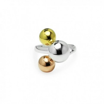 Tricolor Graduated Ball Cocktail Ring