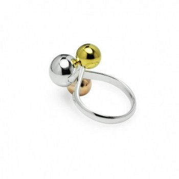 Tricolor Graduated Ball Cocktail Ring in Women's Band Rings