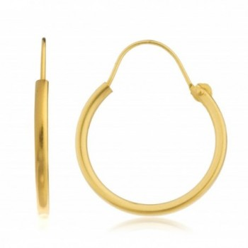 14k Yellow Gold Simple U-Hoop Earrings - All Sizes Available - CQ124SVECK7