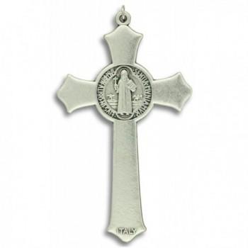 Benedict Crucifix Cross Pendant Card in Women's Pendants