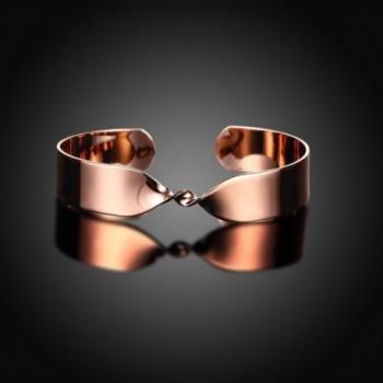 Fashion Plated Twisted Gorgeous Bracelet in Women's Cuff Bracelets