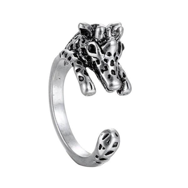 Gmai Chic Giraffe Ajustable Animal Wrap Ring Open Knuckle Ring - C8127KMDKPT