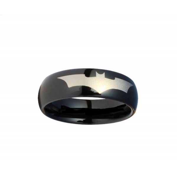 Batman Print on a Black Tungsten Carbide DC Width 8 mm Band Ring Size 4 - 13 R162 - CQ116XW4ZTN