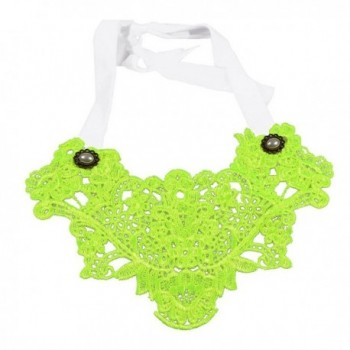 YAZILIND Fluorescent Green Lace Collar Necklace Gothic Lolita Noble Christmas Gift - CN11H8PBNI5