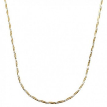 Yellow Gold Plated Sterling Silver 1.3mm Square Snake Chain Necklace (16- 18- 20- 22- 24 or 30 inch) - CM11D3AKKUP