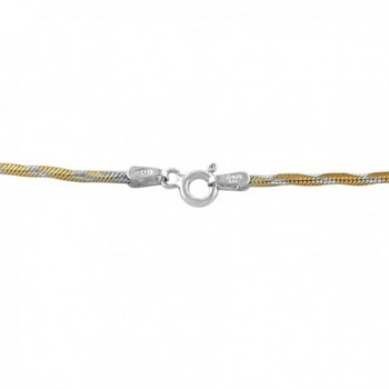 Yellow Plated Sterling Silver Necklace