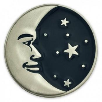 PinMart's Astrology Moon Face and Stars Enamel Lapel Pin - C2110T80N1B