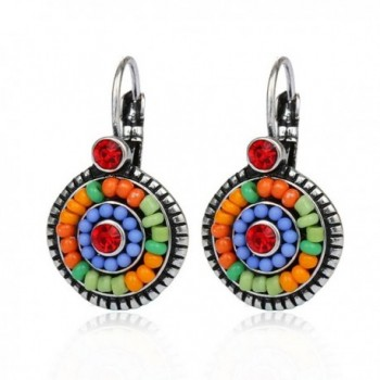 Bohemia Earrings Resin Round Beads Clip-on Earring - SRXE102A - CN12J0DKYFP