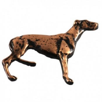 Creative Pewter Designs- Pewter Full Body Greyhound Handcrafted Dog Lapel Pin Brooch- D396F - CO122Y9GNGV