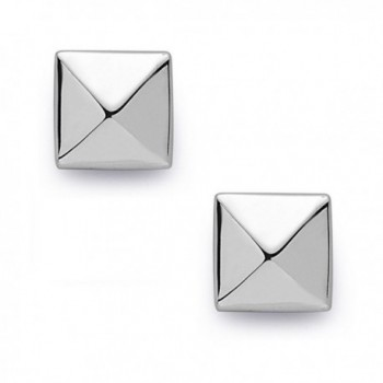 925 Sterling Silver Pyramid Earrings