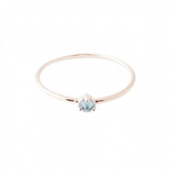 HONEYCAT Aquamarine Delicate Crystal Point Solitaire Ring In Gold- Rose Gold- or Silver - Rose Gold - CM185KMCQZR