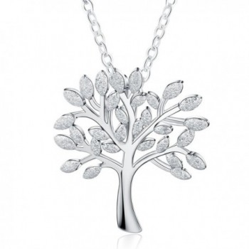 "Meidiya ""The Tree of Life"" 925 Sterling Silver Pendant Necklace for Women Birthday Christmas Gifts - Silver - C8188KOW2XW"