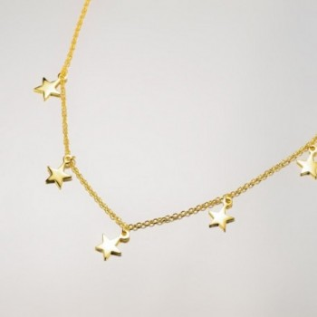 Dangling Stars Choker Necklace Sterling in Women's Choker Necklaces