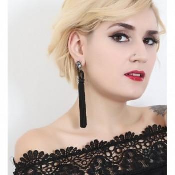 Boderier Tassel Earrings Bohemian Crystal