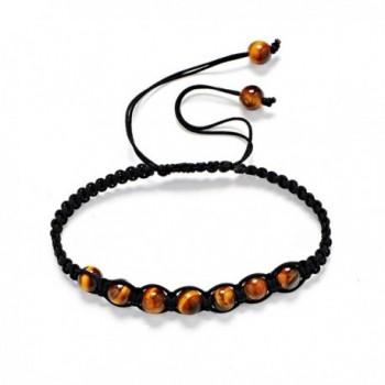 Bracelet Tiger Tibetan Buddhist Meditation - Tiger Eye-6MM-7 Beads - CF17YQ7L34N