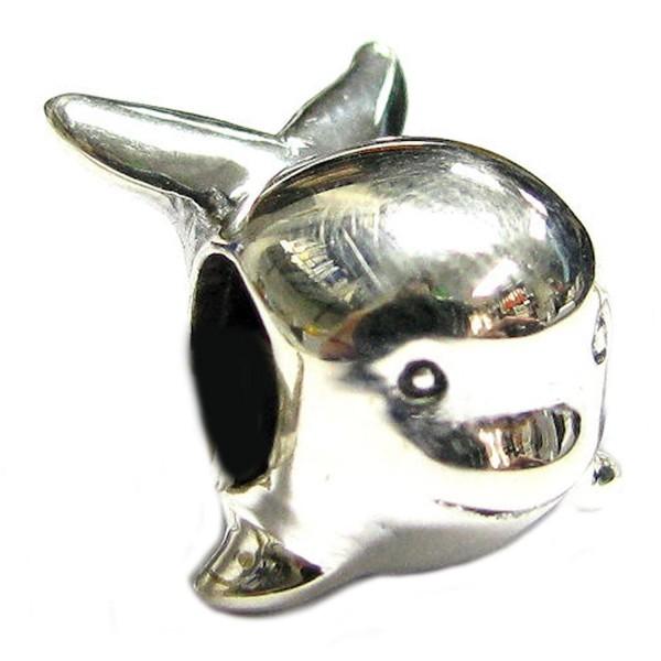 Sterling Silver Whale European Style Bead Charm - CG115QPF0VZ