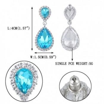 EVER FAITH Austrian Earrings Silver Tone in Women's Drop & Dangle Earrings