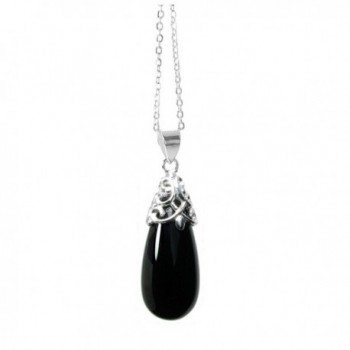 Sterling Natural Teardrop Necklace Extender - CW11O0Y1E1D