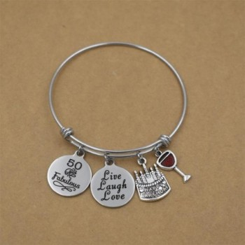 Stainless Expandable Birthday Bracelets Jewelry