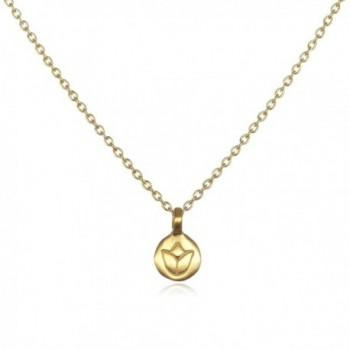 Satya Jewelry Classics Gold Lotus Necklace (18-Inch) - CH114AZG8AH