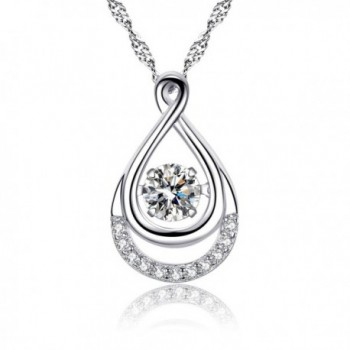 Infinity Necklace For Women- 925 Sterling Silver Dancing Necklace Jewelry Gift - CD1874N5I7U