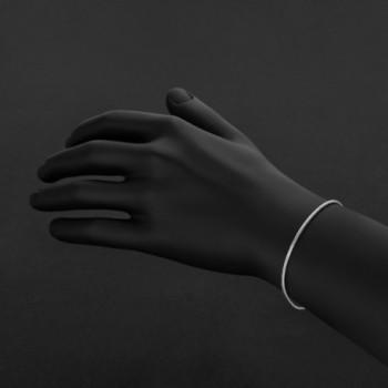 Sterling Silver Nickel Free Rounded Snake in Women's Link Bracelets