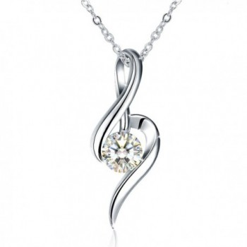 Necklace Sterling Zirconia Girlfriend Daughter - CN183LHGS23