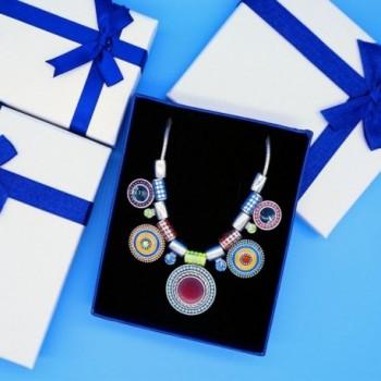 Multicolor Choker Pendants Rhinestone Necklace in Women's Pendants