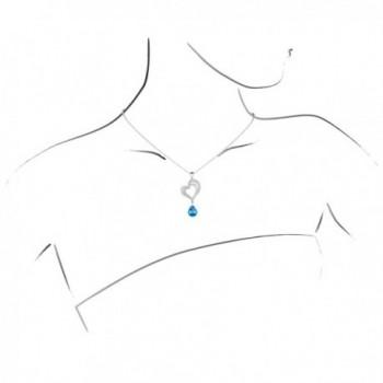 Pendant Necklace Aquamarine Crystal Birthstone