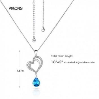 Pendant Necklace Aquamarine Crystal Birthstone in Women's Pendants